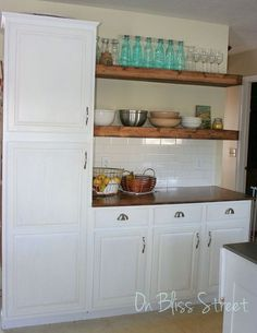 awesome kitchen transformation for under 1000, countertops, home improvement, kitchen cabinets, kitchen design, shelving ideas