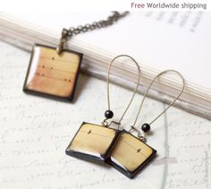Birds on Wire Jewelry set  Christmas gift for her by BeautySpot, $30.00