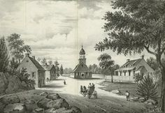 Looking West at the Old Reformed Dutch Church - New York, NY, USA, 1776