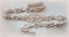 Bridal belt, Rose gold belt, rose gold bridal belt, rose gold, rose gold sash, skinny belt, Bridal belt, Wedding belt, sash belt,
