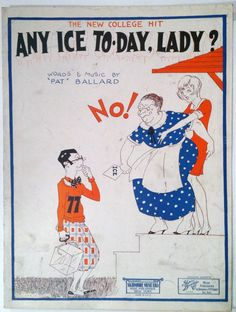 Any Ice To-Day Lady? 1926 So cute. From Ebay