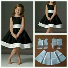 Dress with 3 floor of waistband and super flare skirt pattern order via line with @ modellistepattern kidsdress dress dresspattern poladress poladressanak dressanak pola jualpola Could do similar with first day dress pattern… Baby Dress – Özlem KAYAR Fashion Kids, Fashion Black, Little Girl Dresses, Girls Dresses, Kids Dress Patterns, Pattern Dress, Diy Dress, Toddler Dress, Toddler Girl