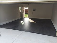 Behr Semi-Transparent Concrete Stain in Dark Coal (available at The Home Depot)- This is the perfect stain for a garage floor.
