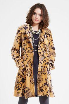 Nomads Esme Velvet Coat in Ochre £140