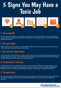 5 signs of a toxic work environment -