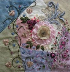 Layers of texture in the embellishment. I'd personally prefer more French knots and fewer beads.
