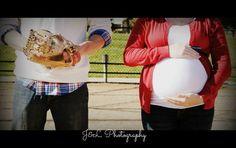 Baseball maternity photos-J & L photography