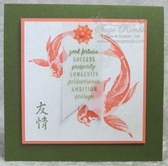 Create an Asian Card with All the Good Things Distinktive Stamp Set from Stampn' Up! Visit site to learn about the new stamps in a Stampin' Up! Altenew Cards, Stampin Up Cards, Koi, Asian Crafts, Best Wishes Card, Stampin Up Catalog, Card Tags, Homemade Cards, Cardmaking