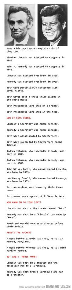 Mind blowing coincidences…