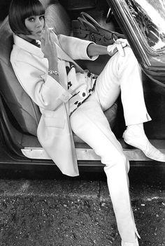Model Ina Balke in Elle, 1964. Photo by Brian Duffy