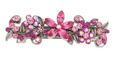Rhinestone Hair Barrette  barrettec0044  pink * Continue to the product at the image link.(This is an Amazon affiliate link)