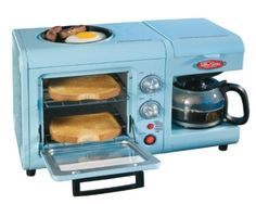 Amazon.com: Nostalgia Electrics BSET-100BLUE Retro Series 3-in-1 Breakfast Station: Kitchen & Dining