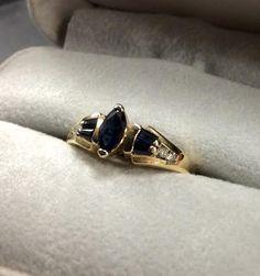Diamond and sapphire ring available @ #williamsjewellerstoronto