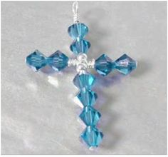 Diy: Cross Pendant - I bet I could do these with beads and chenille stems for ornaments
