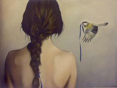 """Broken Ribbon"" by Amy Judd Tribal Tattoos, Tattoos Skull, Art Du Monde, T Art, Beautiful Anime Girl, Nude Photography, Women Life, Bird Art, Belle Photo"