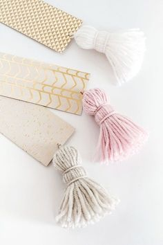 DIY Chunky Tassel Bookmarks
