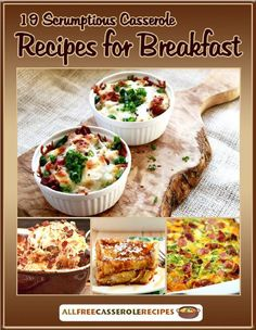 19 Scrumptious Casserole Recipes for Breakfast free eCookbook | Need a few new breakfast ideas? Try these simple recipes. They're perfect for any morning.