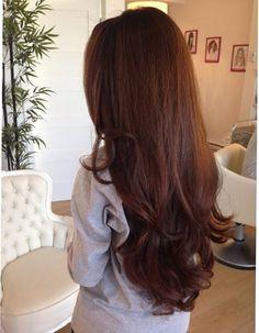 Chestnut Brown Hair Extensions Clip In Human by GudHurPremiumHair, $200.00