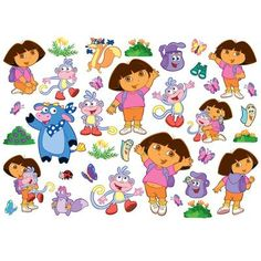 Dora The Explorer 35 Piece Large Wall Stickers Set New (FREE P+P) Awesome Ideas