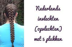 Leer om zelf deze Nederlands ingevlochten vlecht met 5 plukken te doen!