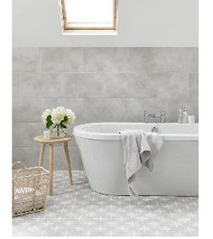 Image for Floor Tile Laura Ashley The Heritage Collection Wicker Dove Grey 331mm x 331mm LA51997 9 Tile Per Pack