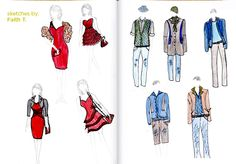 FIDM's FC Members submit their fashion design sketches for a chance to win a fashion sketchpad!