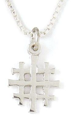 Jerusalem cross Jerusalem Cross, Old Rugged Cross, Christian Jewelry, Cross Pendant, Crosses, Angels, Pendant Necklace, Sterling Silver, Watch