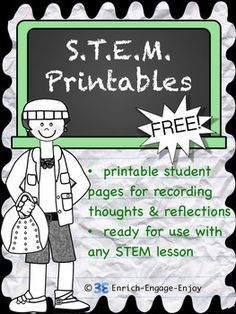 STEM activities are fun, hands-on, engaging, and collaborative. Students love the interactive nature of these activities, and teachers love the creative and critical thinking they require. This free pack of printables can be used with any STEM lesson! Stem Science, Teaching Science, Life Science, Primary Science, Summer Science, Preschool Science, Science Ideas, Science Experiments, Teaching Ideas