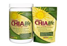 Ultimate CHIAlife  Ultimate CHIAlife 100% premium chia seeds provide a nourishing blend of dietary fiber, beneficial Omega-3 fatty acids and other nutrients for a power-packed energy boost at home or on the road.#health