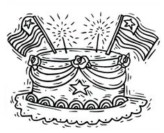 celebrating presidents day with cake coloring pages free printable