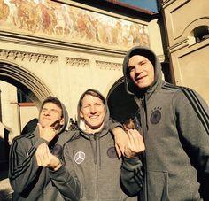 Enjoying my time in Munich with @esmuellert and @manuelneuer