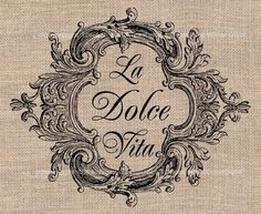 La Dolce Vita Collage Sheet Download for Italian Image Transfers Pillows Tea Towels Totes Shabby Chic Decor Printable Image No. 224. $4.20, via Etsy.