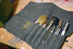 Princess Lasertron's Last Minute Brush Roll :  wedding diy makeup 350885201 350885201