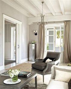 living room, shades of grey