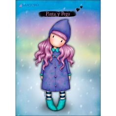 Gorjuss Northern Lights Greeting Card A beautiful art card featuring a lovely Gorjuss Girl, this card is perfect for all occasions. Crea Fimo, Santoro London, Cute Cartoon Girl, Sassy Girl, Girl Inspiration, Cute Characters, Diy For Girls, Illustrations, Diy Scrapbook