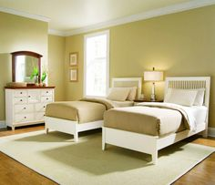 Twin Bedroom Simply ~ http://makerland.org/twin-bedroom-ideas/