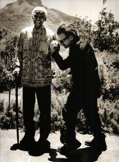 Bono & Nelson Mandela by Anton Corbijn Nelson Mandela, U2 Show, U2 Band, Pop Internacional, Paul Hewson, Bono U2, Portraits, Post Punk, Film Director