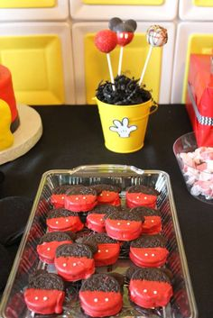 36 Trendy Birthday Party Ideas For Kids Boys Mickey Mouse Mickey 1st Birthdays, Mickey Mouse First Birthday, Mickey Mouse Clubhouse Birthday Party, Mickey Mouse Party Decorations, Mickey Mouse Parties, Mickey Party Foods, Second Birthday Ideas, 2nd Birthday, Minnie Y Mickey Mouse