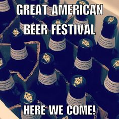 (8/25) We've got quite a weekend for you, friends! Tonight at 5pm, come by to taste the five beers we have submitted to the Great American Beer Festival in Denver!