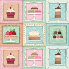 4046b35f0080 Novinky. KoláčSladkostiKviltyKeksy. Sugary Sweet Dessert Set Patch - SPX. Látky  UŠIMITO