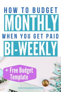 Want to know how to budget monthly when you are getting paid bi weekly?Want to know how to budget monthly when you are getting paid bi weekly? Read on for more on how to set up your budget, how to get organized, and make . Budgeting Finances, Budgeting Tips, Making A Budget, Making Ideas, Easy Budget, Budget Sheets, Excel Budget, Monthly Budget Spreadsheet, Monthly Budget Sheet