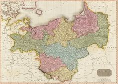 Landkarte Preußen: an 1806 map of Prussia