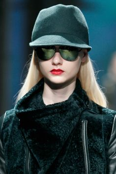 Lush, deep colors such as this rich Prussian blue make bold but elegant statements. From Kenneth Cole Fall 2013 Collection at Mercedes Benz Fashion Week.