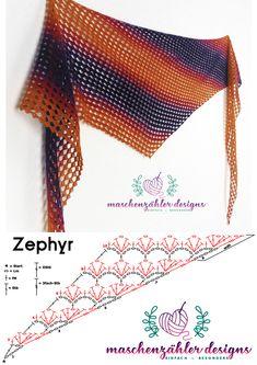 Crochet Scarf Diagram, Crochet Triangle Scarf, Crochet Hooded Scarf, Crochet Scarves, Crochet Shawl, Crochet Clothes, Crochet Stitches, Knit Crochet, Loom Knitting