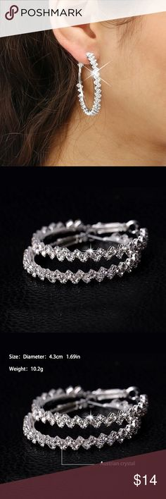 Austrian crystal hoop earrings Austrian crystal earrings Jewelry Earrings