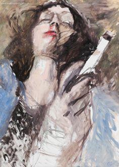 "Artist Olga Gorokhova ""Pulp fiction"" oil painting on canvas. Pulp Fiction, Moscow, Contemporary Art, Art Gallery, Oil, Canvas, Artist, Painting, Tela"