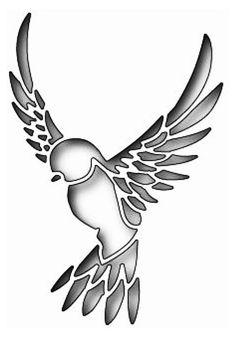 Bird Stencil, Stencil Art, Tattoo Stencils, Stencil Patterns, Stencil Designs, Pvc Pipe Crafts, Wood Burning Patterns, Paper Birds, Bird Silhouette