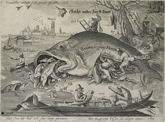 The Big Fish Eat the Little Fish, Satire on the Fall of Johan van Oldenbarnevelt, 1619.
