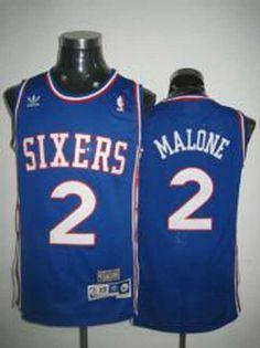 NBA Philadelphia 76ers #2 Malone purple jerseys