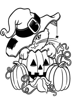 Halloween Coloring Sheets See More Print Image